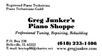 Greg Junker's Piano Shop